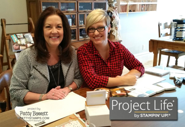 Patty Bennett and Sara Douglass documenting memories with Project Life by Stampin' Up!