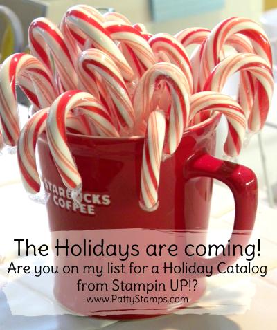 Christmas starbucks mug with candy canes pattystamps