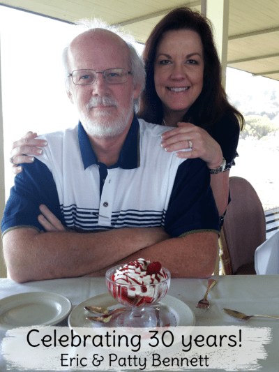 Eric and Patty Bennett celebrating 30 years at the Spinnaker restaurant, Sausalito, CA