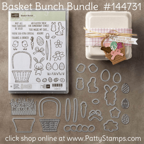 144731 Stampin' Up! Basket Bunch Bundle from Stampin Up!. Click Shop Online at www.PattyStamps.com
