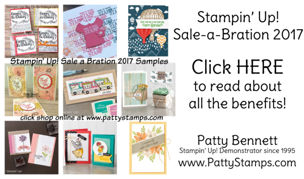 Stampin' Up! Sale a Bration 2017 benefits - FREE stamps!