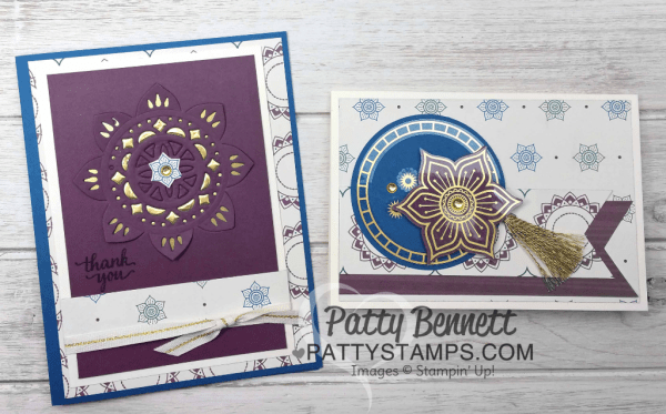 Eastern Palace Suite bundle card ideas. Stampin' Up! new In Color: Fresh Fig. Cards by Patty Bennett