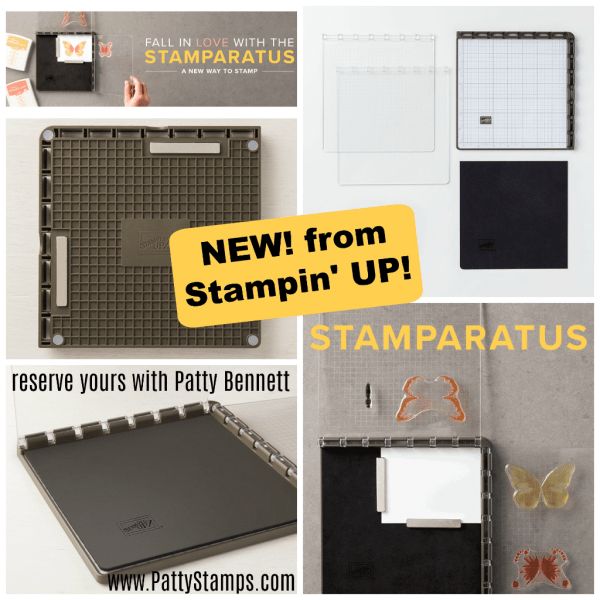 Stamparatus stamp positioning tool, new from Stampin Up! - contact me www.pattystamps.com