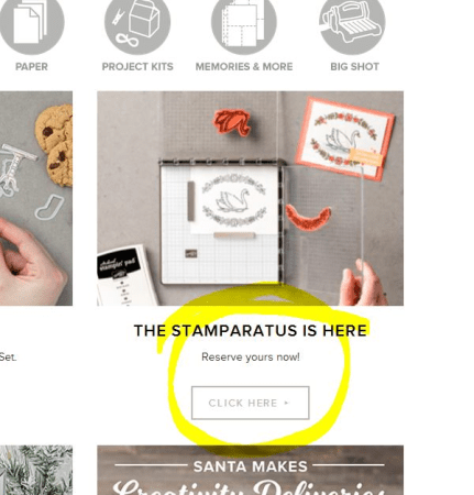 Reserve the Stampin' Up! Stamparatus online in December with Patty Bennett