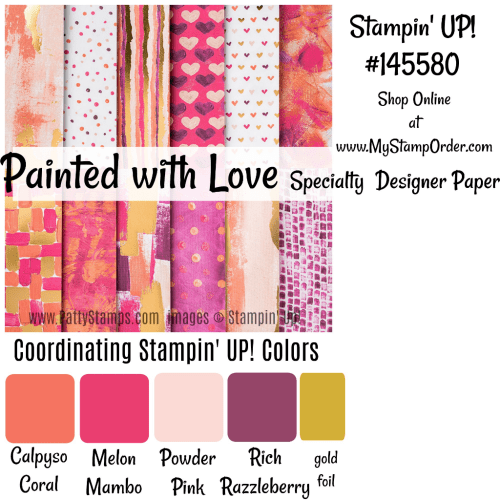 Painted with Love Stampin' Up! designer series paper #145580