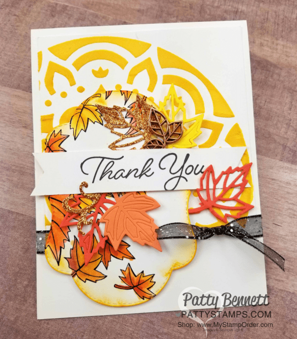 Color Your Season Stampin' Up! card ideas with watercolor pencils and Wink of Stella by Patty Bennett, www.PattyStamps.com