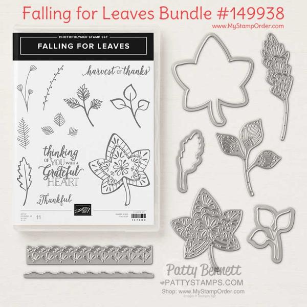 149938 Falling For Leaves Stampin' UP! Bundle, order online at www.MyStampOrder.com