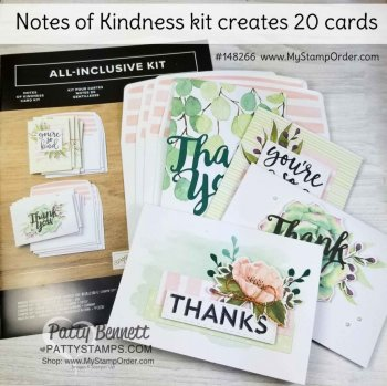 Notes of Kindness Stampin' UP! card kit