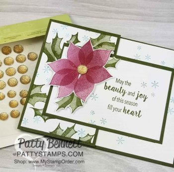 Stampin' UP! Stylish Christmas Poinsettia Card