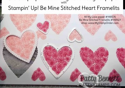 Be Mine Stitched Heart Framelits for Valentine's Day