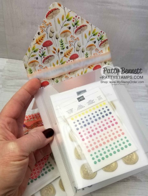 Painted Seasons Bundle - Limited time Sale-a-Bration 2019 gift offering from Stampin' UP!. Repurpose Big Shot framelit die package for paper crafting gift idea. By Patty Bennett www.PattyStamps.com