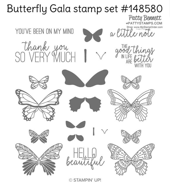 Butterfly Gala stamp set from Stampin' UP!  #148580 at www.MyStampOrder.com