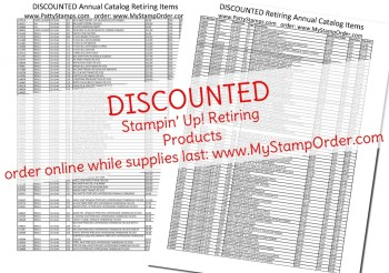 Discounts on Retiring Stampin' Up! products