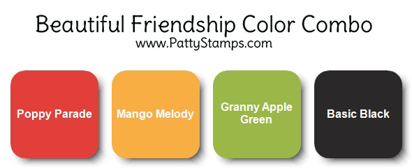 Stampin' UP! color combo for Beautiful Friendship note cards by Patty Bennett www.PattyStamps.com