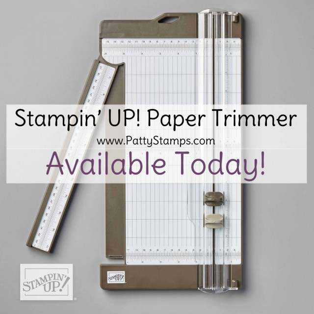 Stampin' Up! Paper Trimmer is available in my online store. For DIY papercrafting projects with cardstock, designer paper and vellum. #152392 at www.MyStampOrder.com
