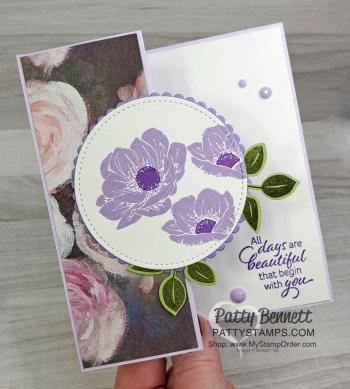 Purple Posy Z Fold Card Idea
