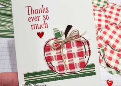 Gingham Apple Thank You Cards