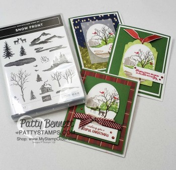 3 Card Ideas for Stampin' Up! Snow Front set