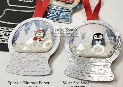 Snow Globe Penguin Ornaments