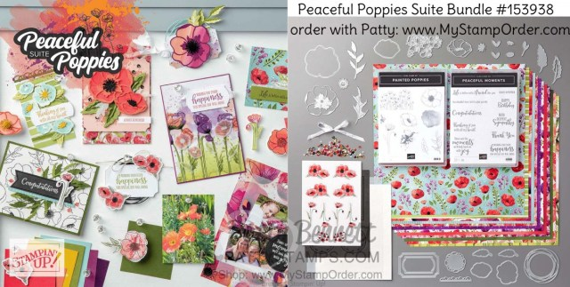 Peaceful Poppies Suite Bundle from Stampin' Up! Order #153938 online with Patty Bennett www.MyStampOrder.com