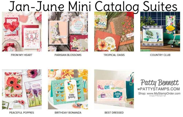Stampin Up Jan-June Mini catalog 2020 suites - papercrafting product supplies for arts and crafts. www.PattyStamps.com