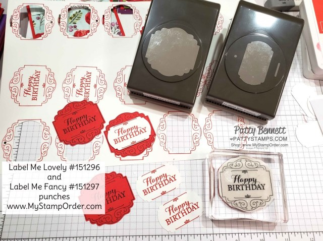 Label Me Lovely and Label Me Fancy punches from the Stampin Up 2020 Jan-June Mini catalog. Paired with the Layered with Kindness stamp set.  Order online beginning Jan 3, 2020 at www.MyStampOrder.com