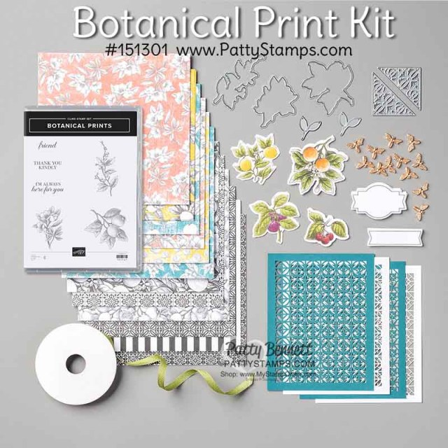 Botanical Prints card kit medley #151301 available online click shop now www.PattyStamps.com