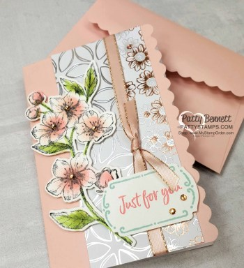 Flowering Foils Cherry Blossoms Note Cards