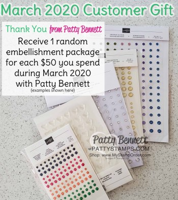 Patty's March Customer Thank You Gift Offer Reminder