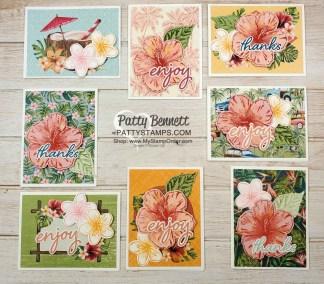 Tropical Oasis Memories & More Card Ideas
