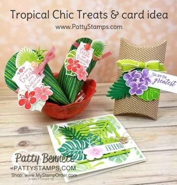 Retiring Tropical Chic stamp set & dies ideas