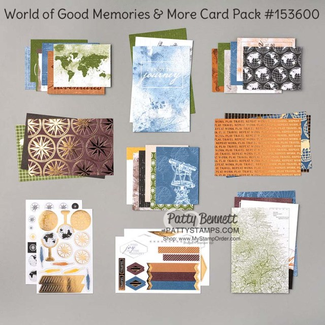 153600 Stampin Up Memories & More card pack: World of Good www.PattyStamps.com