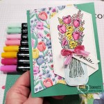 Mason Jar punch Jar of Flowers card featuring Stampin
