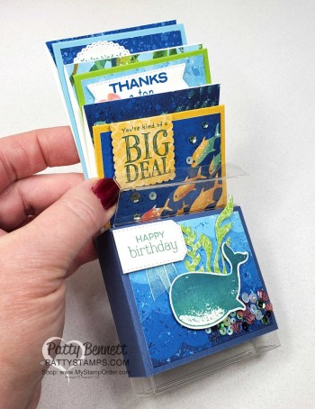3×3 Box with Whale of a Time Note Cards