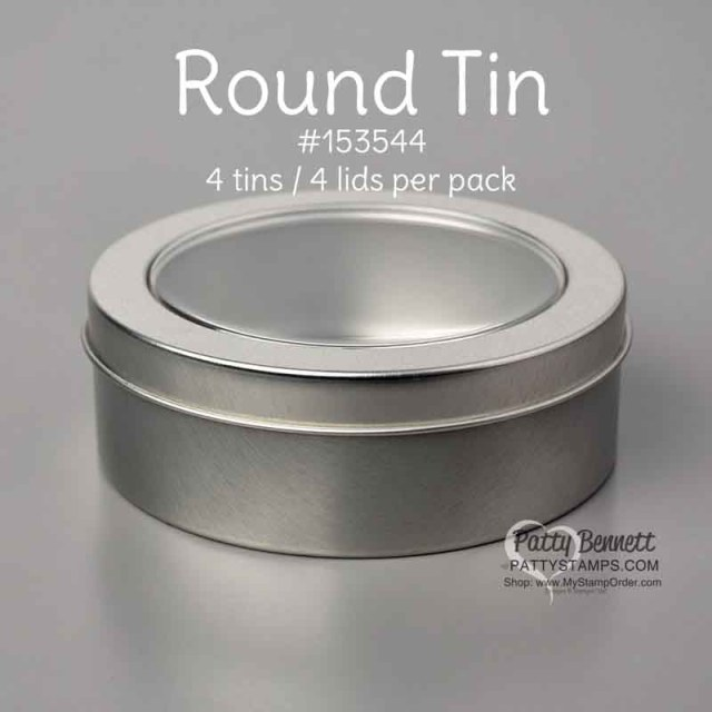 Round Tins #153544   from Stampin' Up! great for gift packaging for the holidays. www.PattyStamps.com