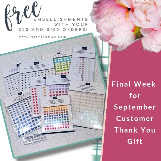 September Customer Thank you Gift from Patty Bennett