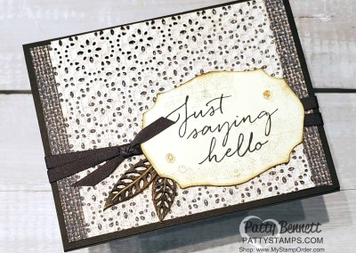 Stitched Lace Die Card Idea