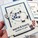 Stampin UP Warm & Toasty card idea: color polar bear with Stampin