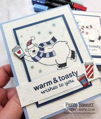 Warm & Toasty Polar Bear Card