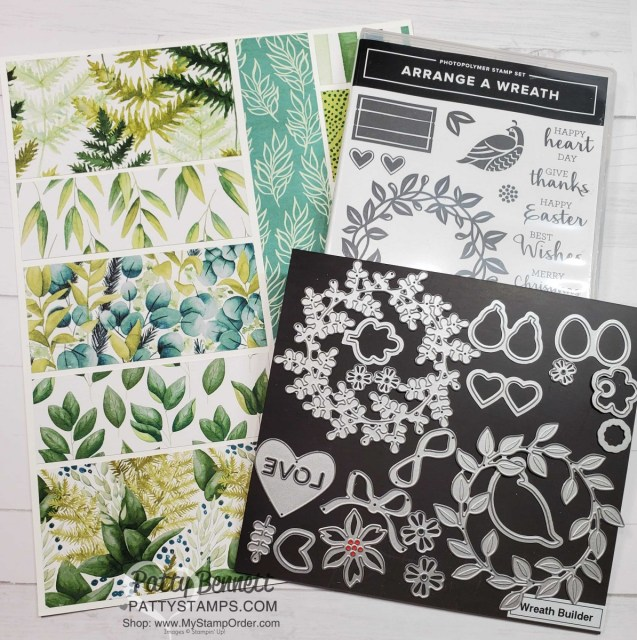 Forever Greenery and Arrange a Wreath bundle from Stampin' UP!  www.PattyStamps.com