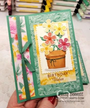 Basket of Blooms Fun Fold Video Tutorial