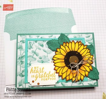 Just Jade Memories & More Sunflower Card