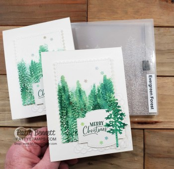 Evergreen Forest Embossing Folder Watercolor Tutorial