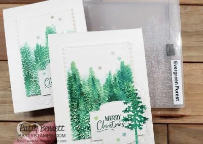 Evergreen Forest Embossing Folder Watercolor Tutorial