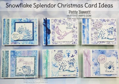 Side Fold Snowflake Splendor Snowman Card
