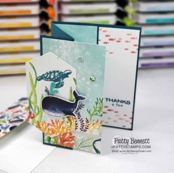 Whale of a Time Fun Fold Card