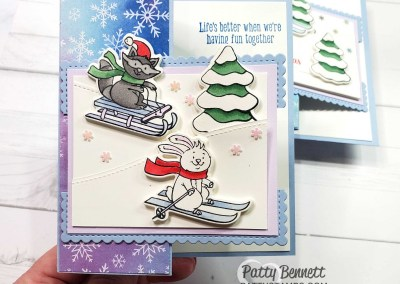 Freezin' Fun Z Fold Card with Stampin' Blends