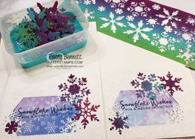 Snowflake Wishes Cards with Rainbow Glimmer Paper