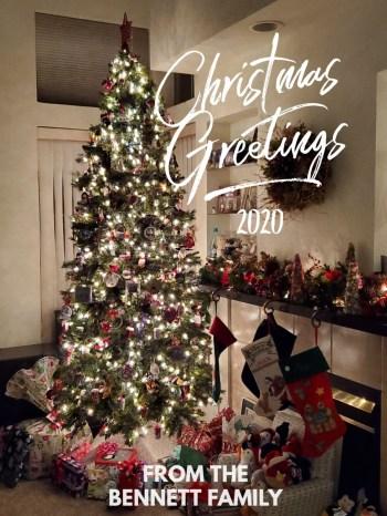 Christmas 2020 Greetings from the Bennett Family