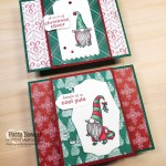 Stampin UP! Gnome for the Holidays Christmas cheer card ideas featuring Stampin Blends coloring and